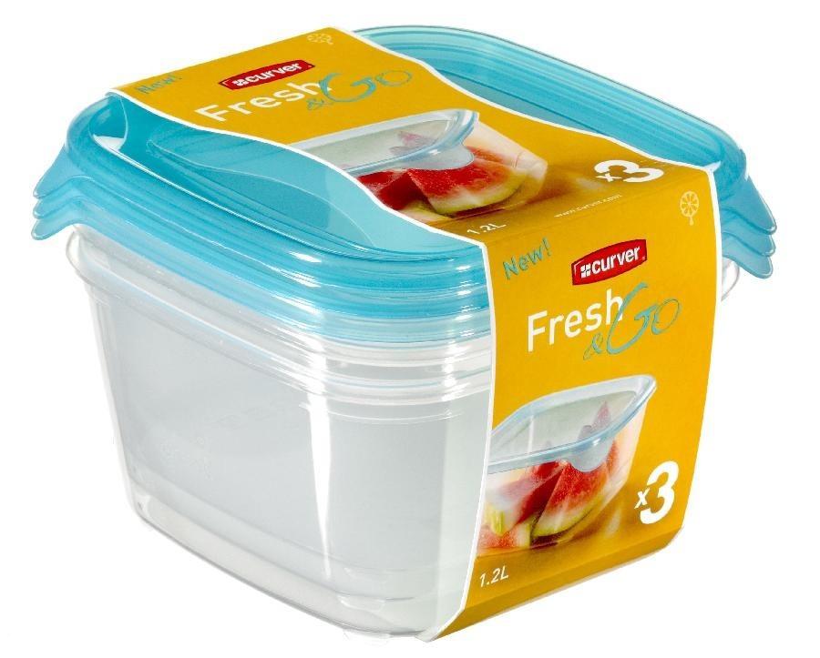 Nábytek Fresh&Go 3x1,2l (plast,modrá)