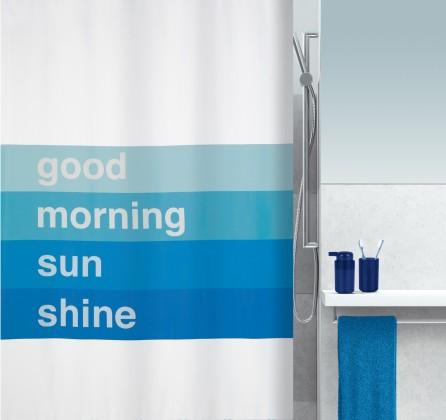 Nábytek Good morning-Sprch.závěs 180x200(modrá)