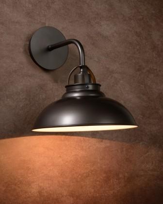 Nábytek Hamois - nástěnné osvětlení, 60W, E27 (šedá)
