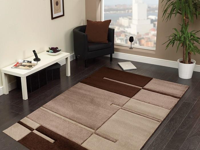 Nábytek Hawaii - koberec, 170x120cm (100%PP friese, hnědá)