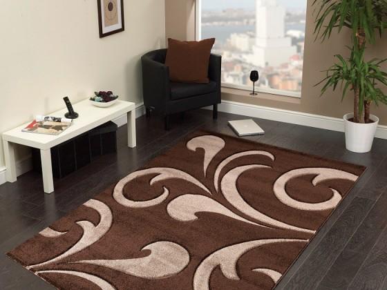 Nábytek Hawaii - koberec, 290x200cm (100%PP friese, hnědá)