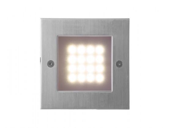 Nábytek Index - Vestavné svítidlo, LED, 1W  (nerez)
