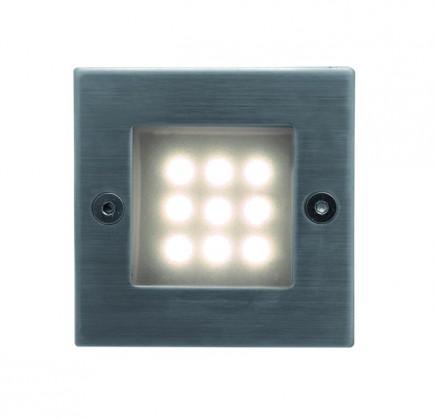 Nábytek Index - Vestavné venkovní svítidlo, LED, 16x40x40 (nerez)