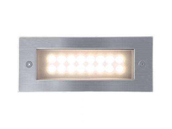 Nábytek Index - Vestavné venkovní svítidlo, LED, 37x18x42 (nerez)