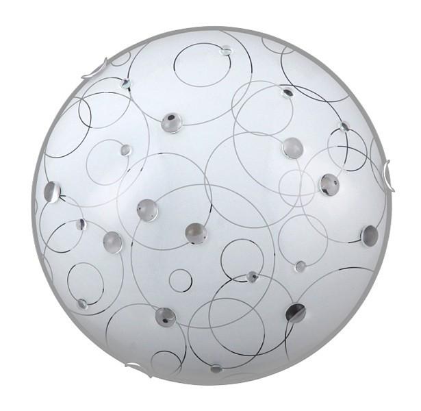 Nábytek Jolly - Nástěnná svítidla, E27 (bílá se vzory/chrom)