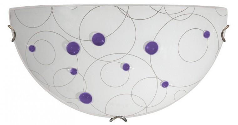 Nábytek Jolly - Nástěnná svítidla, E27 (fialová se vzory/chrom)
