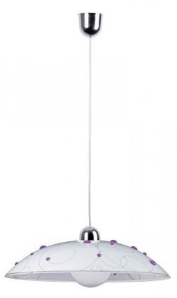 Nábytek Jolly - Stropní osvětlení, E27 (fialová se vzory/chrom)