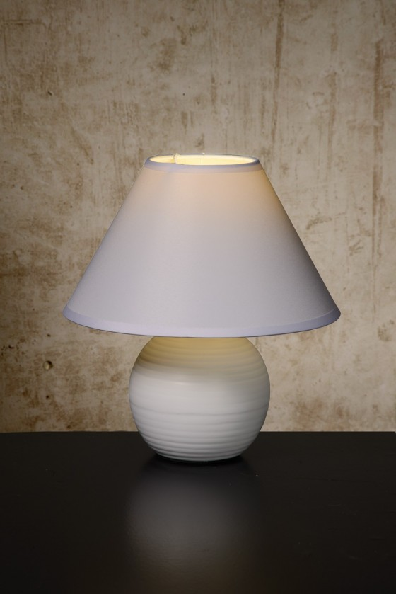 Nábytek Kaddy - lampička, 40W, E14 (bílá)