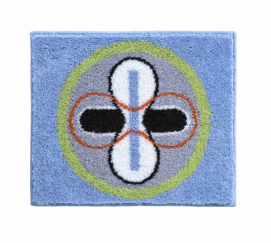 Nábytek Karim 01 - Koupelnová předložka malá 60x50 cm (modrá)