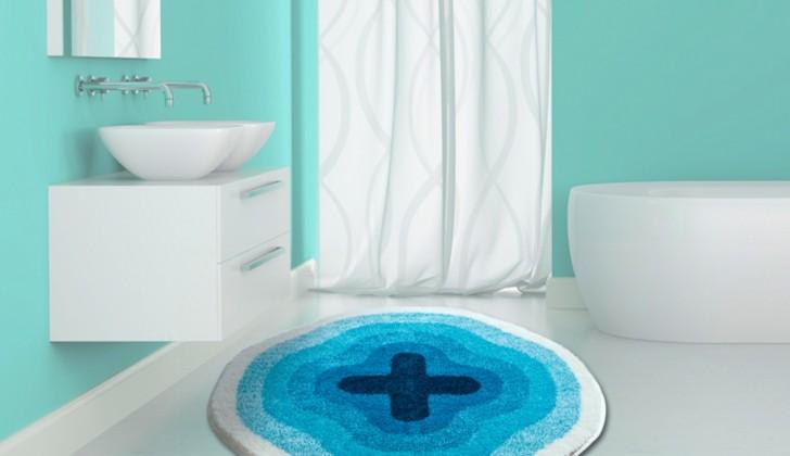 Nábytek Karim 03 - Předložka kruh 60 cm (modrá)