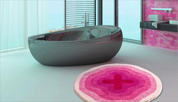 Nábytek Karim 03 - Předložka kruh 60 cm (růžová)