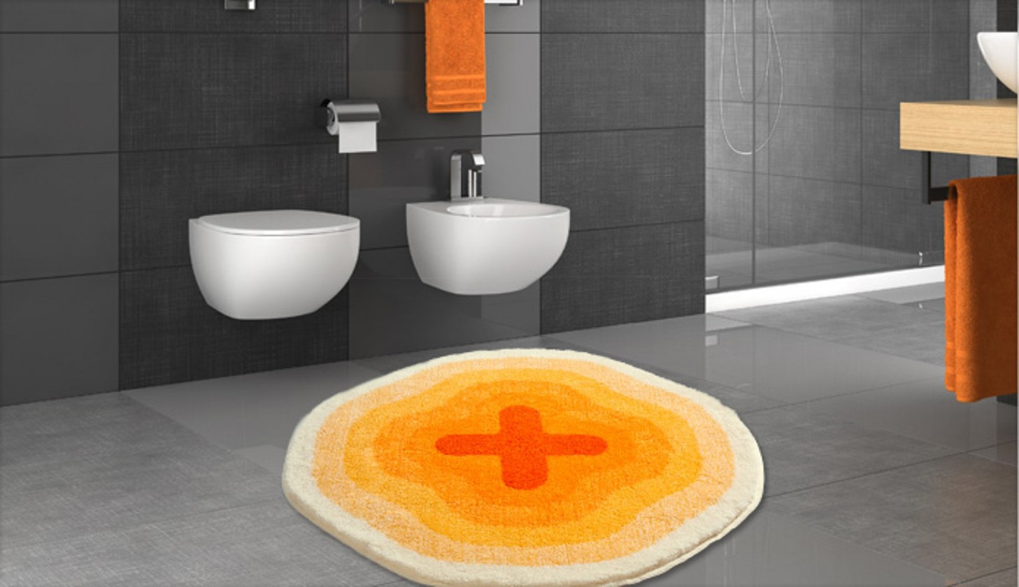 Nábytek Karim 03 - Předložka kruh 90 cm (žlutá)