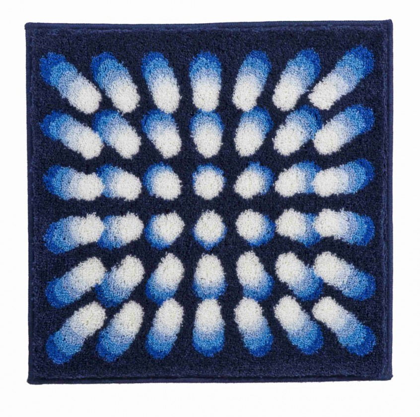 Nábytek Karim 07 - Koupelnová předložka malá 60x60 cm (modrá)
