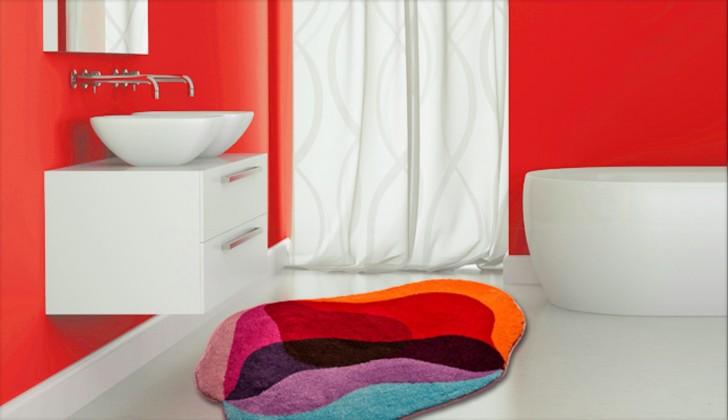Nábytek Karim 21 - Koupelnová předložka 90x130 cm (červená)