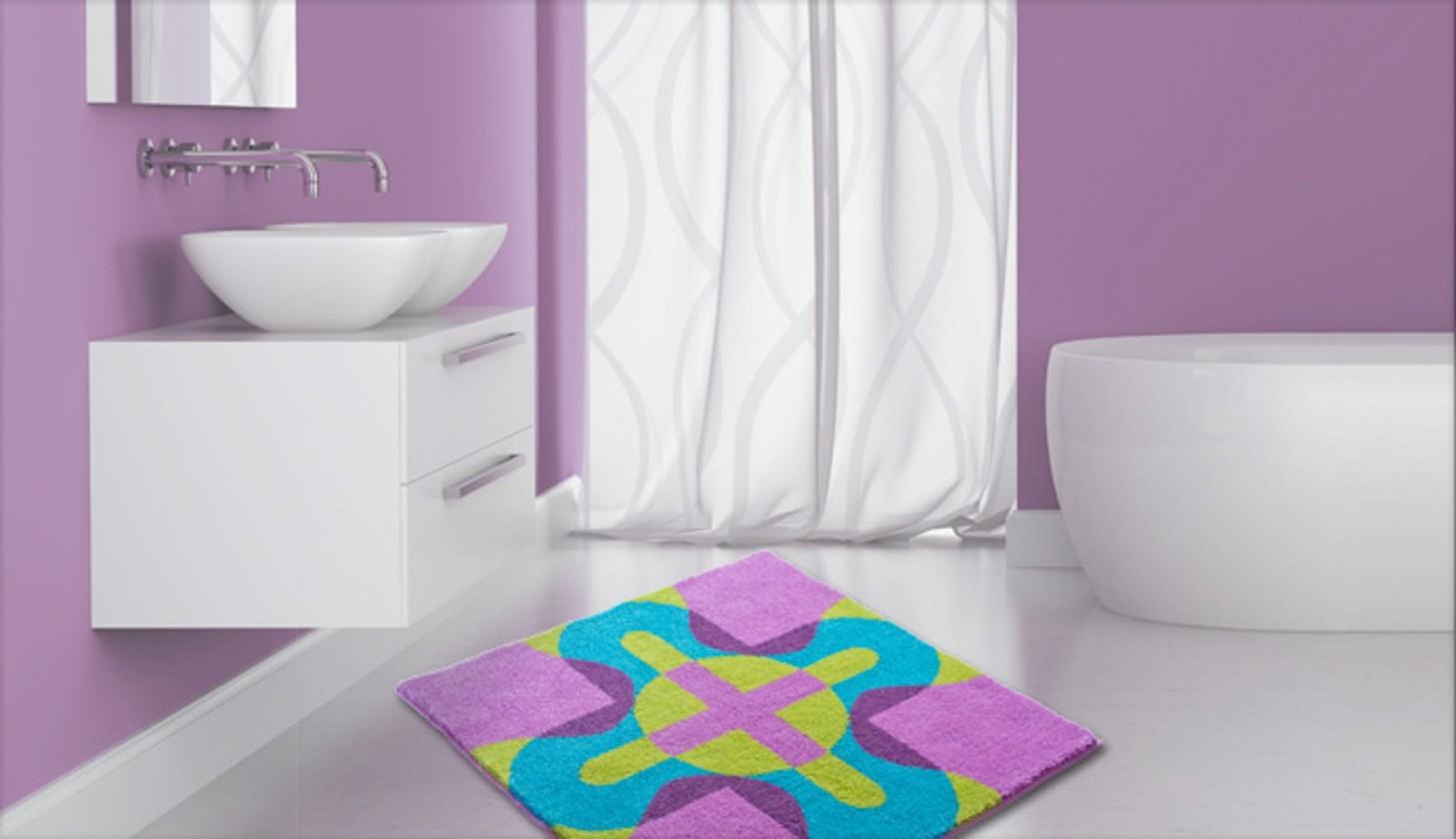 Nábytek Karim 26 - Koupelnová předložka malá 60x60 cm (fialová)