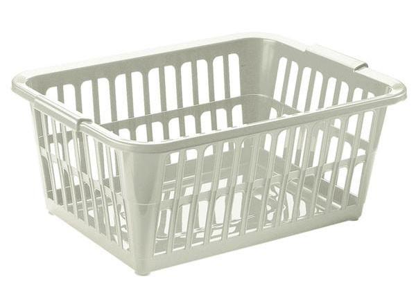 Nábytek Koš na čisté prádlo, 58x40x24 cm, 35l, plast (krémová)