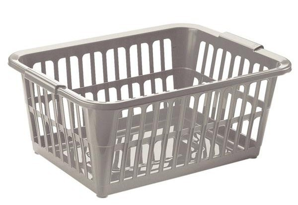 Nábytek Koš na čisté prádlo, 58x40x24 cm, 35l, plast (šedý)