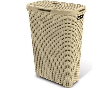 Nábytek Koš na špinavé prádlo ratan 40l - krémový