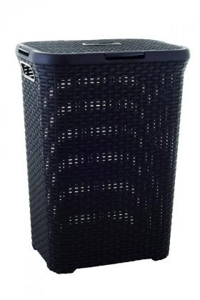 Nábytek Koš na špinavé prádlo ratan 60l - hnědý