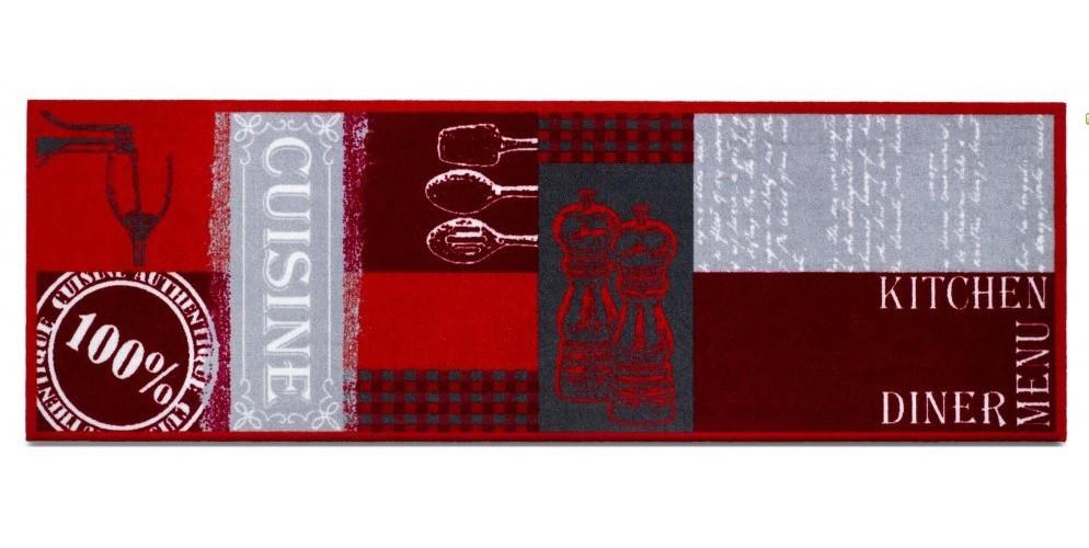 Nábytek Kuchyňská předložka Cuisine authebtique (červená)