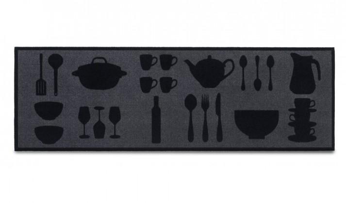 Nábytek Kuchyňská předložka Dishes anthracite (černá)