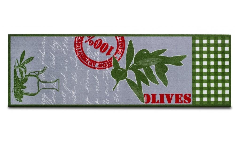Nábytek Kuchyňská předložka Olives (šedá)
