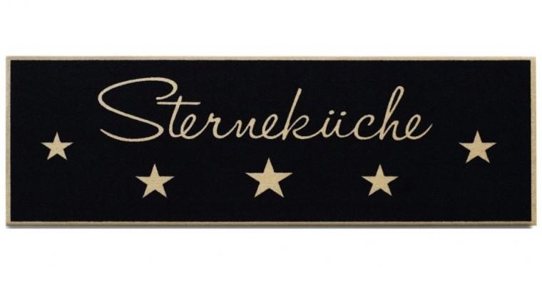 Nábytek Kuchyňská předložka Sternekuche (černá)