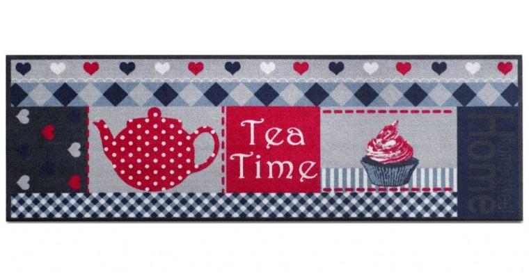 Nábytek Kuchyňská předložka teatime (šedá, červená)