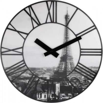 Nábytek La Ville - hodiny, nástěnné, kulaté (plast, černé)