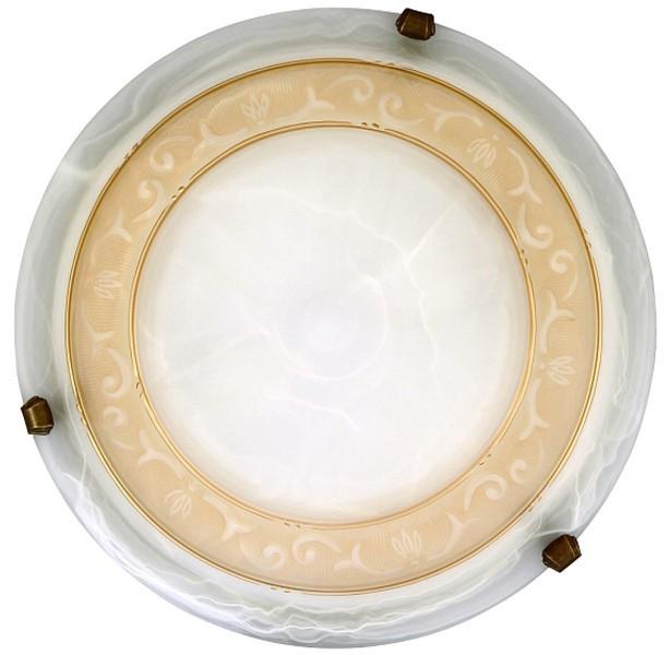 Nábytek Laretta - Nástěnná svítidla, E27 (alabastrová/bronzová )