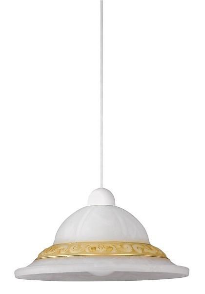 Nábytek Laretta - Stropní osvětlení, E27 (vzorkovaná alabastrová/bílá)