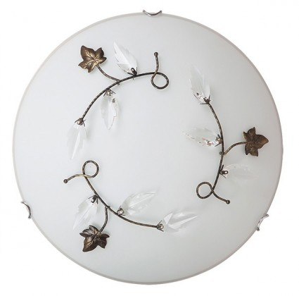 Nábytek Leaves - Nástěnná svítidla, E27 (alabastrová/bronzová/jantarová)