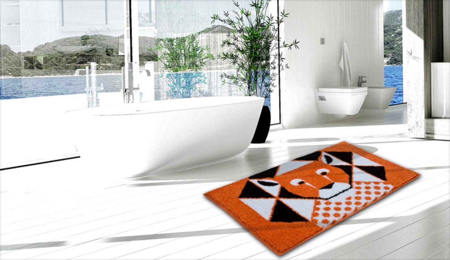 Nábytek Lion - Koupelnová předložka 60x90 cm (oranžová)