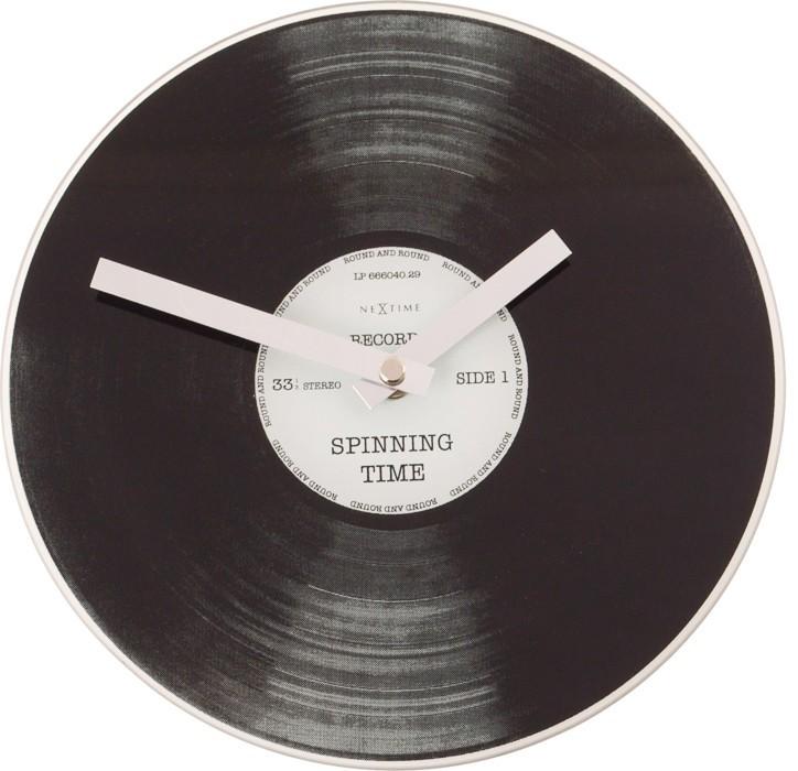 Nábytek Little Spinning Time - hodiny, nástěnné i stojaté (sklo, černé)