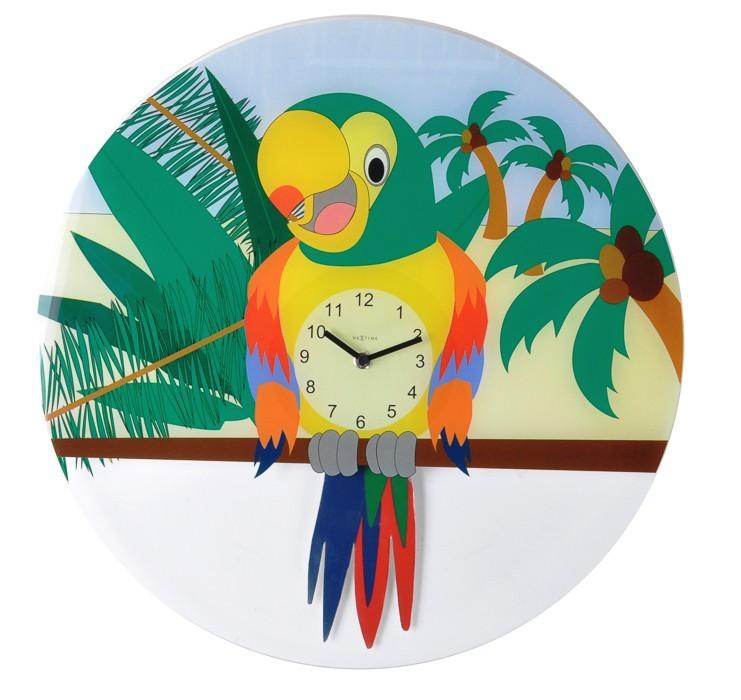 Nábytek Lorre - hodiny, nástěnné kyvadlové, kulaté (sklo, barevné)