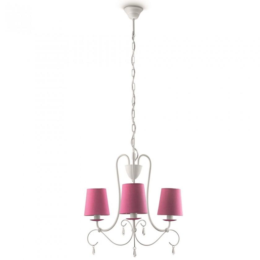 Nábytek Mambo - Stropní osvětlení E 14, 46,6cm (růžová)