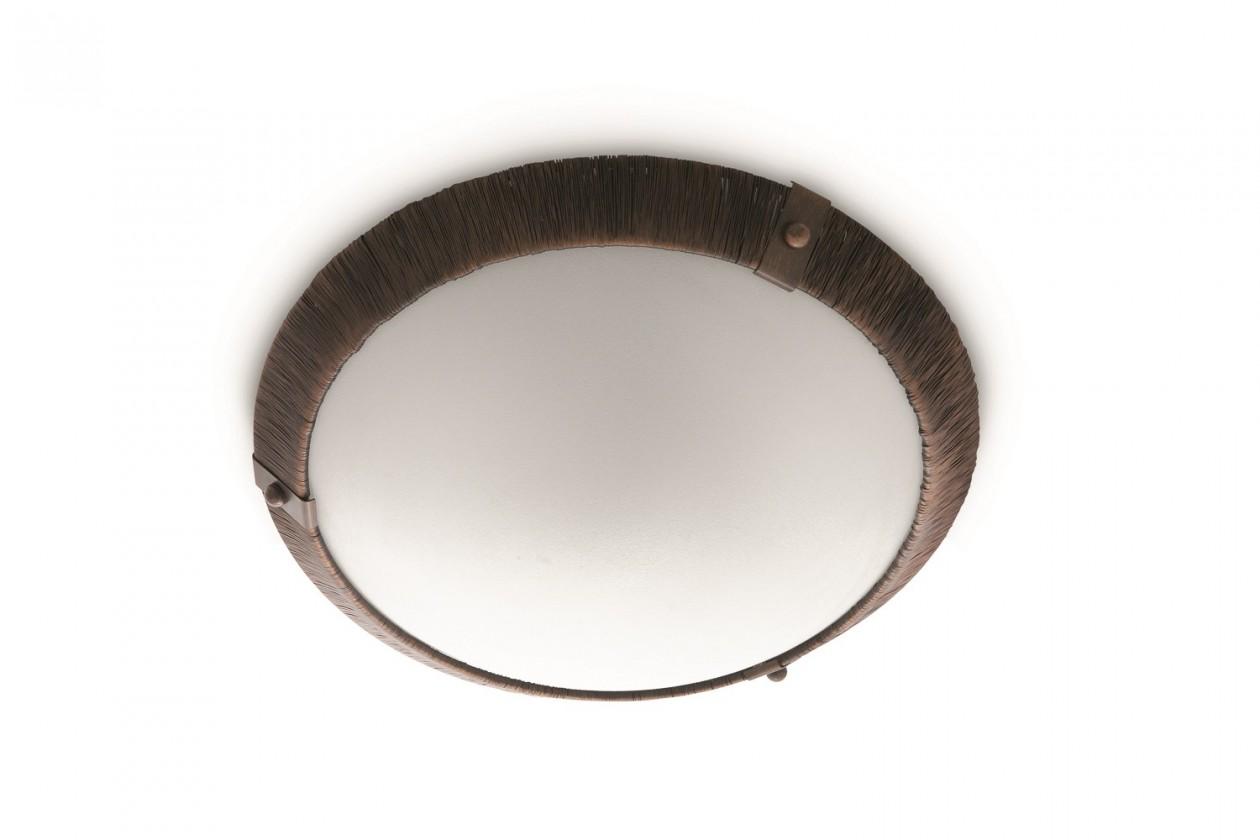 Nábytek Mambo - Stropní osvětlení E 27, 36cm (hnědá)