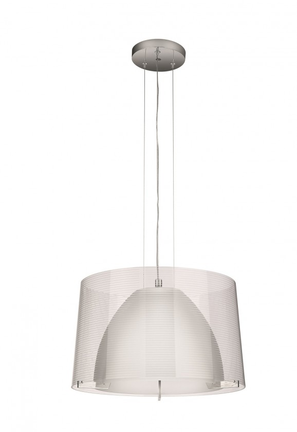 Nábytek Mambo - Stropní osvětlení E 27, 40,55cm (lesklý chrom)