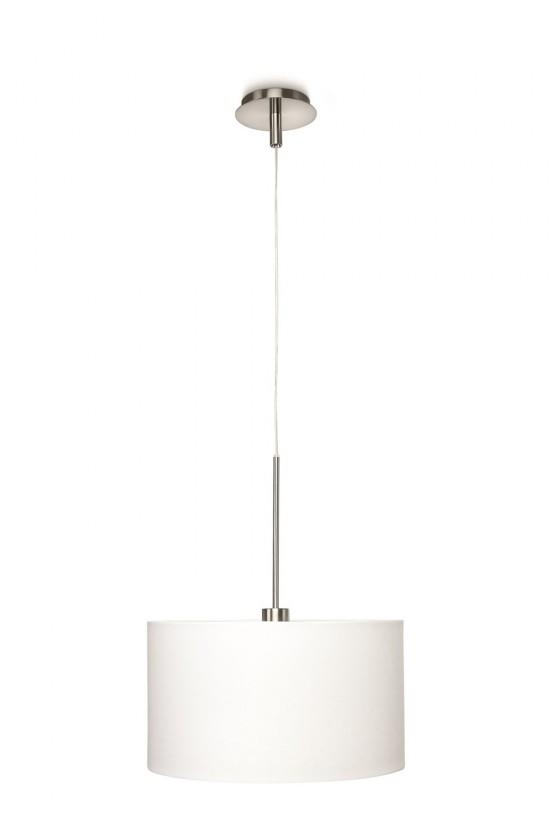 Nábytek Mambo - Stropní osvětlení E27, 40,5cm (bílá, matný chrom)