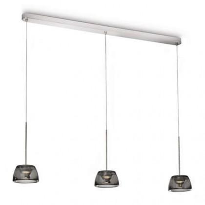 Nábytek Mambo - Stropní osvětlení LED, 107cm (lesklý chrom)