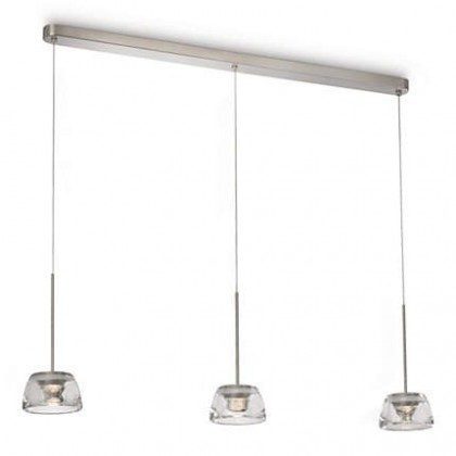Nábytek Mambo - Stropní osvětlení LED, 107cm (matný chrom)