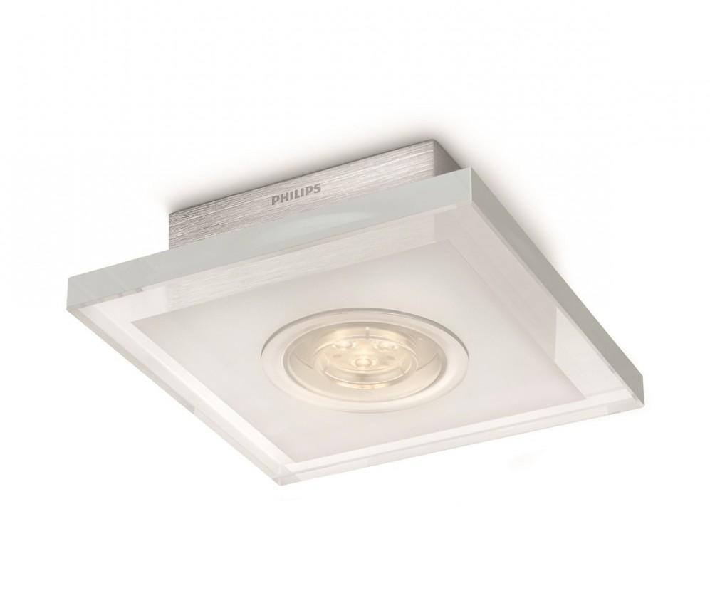 Nábytek Mambo - Stropní osvětlení LED, 16cm (hliník)