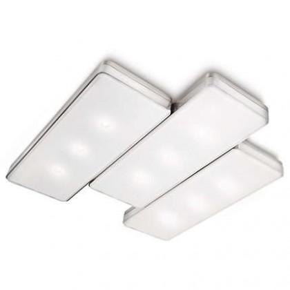 Nábytek Mambo - Stropní osvětlení LED, 37cm (matný chrom)