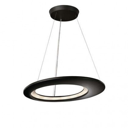 Nábytek Mambo - Stropní osvětlení LED, 65cm (antracit černá)