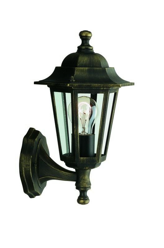 Nábytek Mano - Venkovní osvětlení E 27, 17,5x34,6x17,5 (bronzová patina)