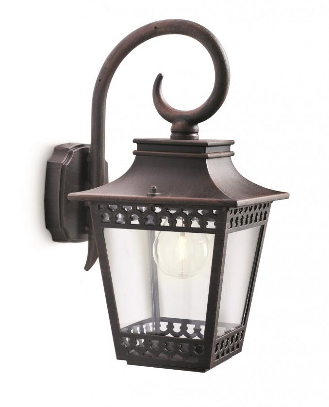 Nábytek Mano - Venkovní osvětlení E 27, 18x36x23 (rezavá)