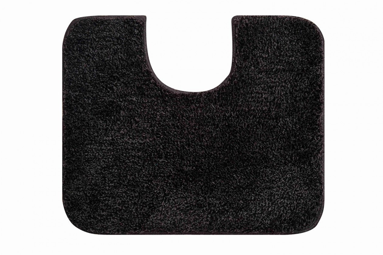Nábytek Melo - WC předložka 60x50 cm (šedá-černá)