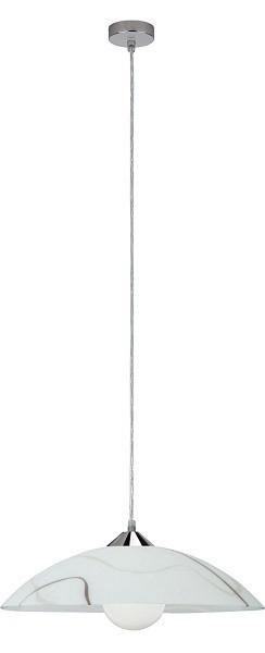 Nábytek Mirabell - Stropní osvětlení, E27 (bílá/hnědá/chrom)