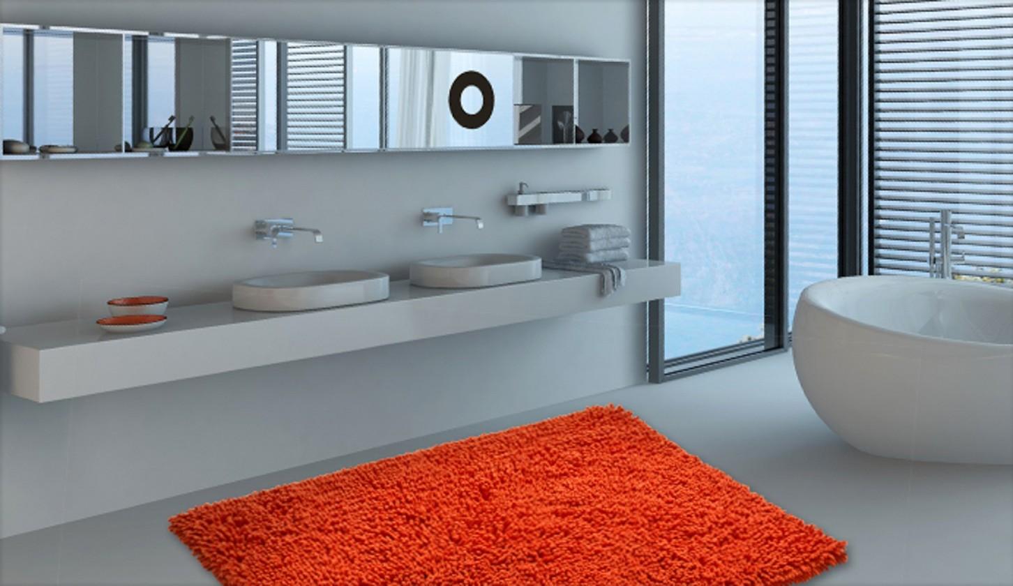 Nábytek Neo - Koupelnová předložka 70x115 cm (pomerančová)