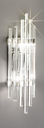 Nábytek Ontario - E14, 40W, 9,5x31x7 (stříbrná)